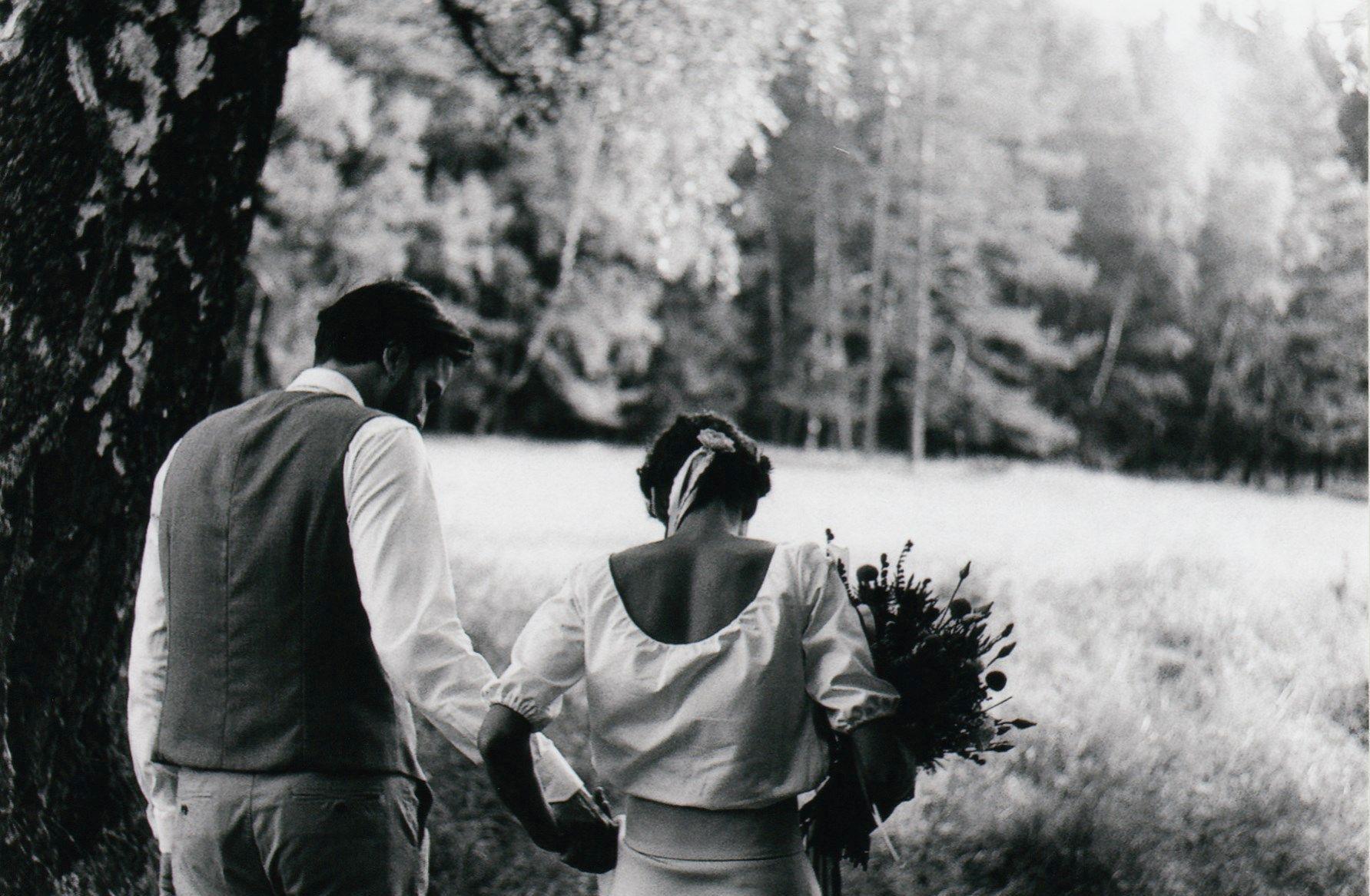 Zuzanka a Jeník - Svatební foto Novohradské hory
