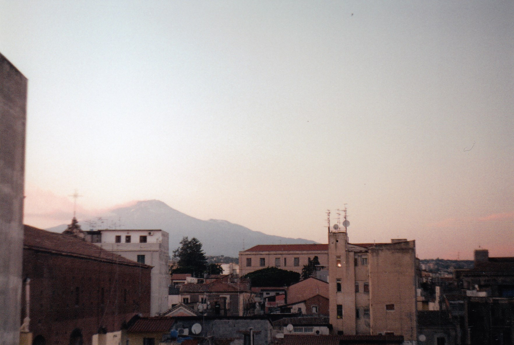 Výhled na Etnu, Catania